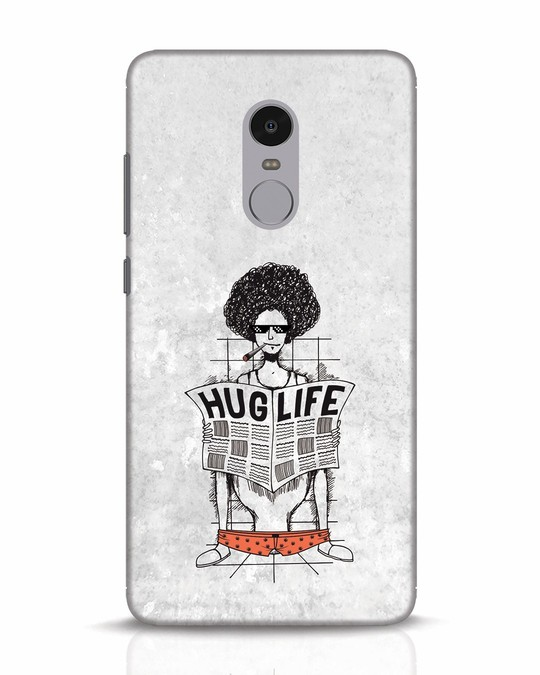 Shop Hug Life Xiaomi Redmi Note 4 Mobile Cover-Front