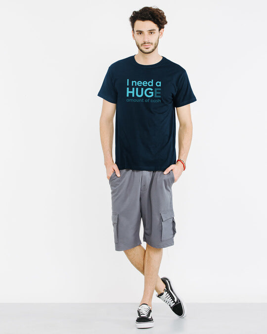 Shop Huge Amount Of Cash Half Sleeve T-Shirt