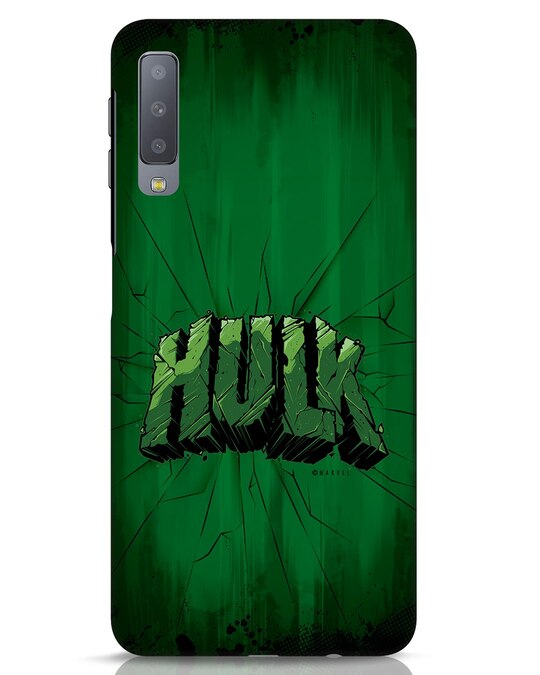 Shop Hulk Crack Samsung Galaxy A7 Mobile Cover (AVL)-Front