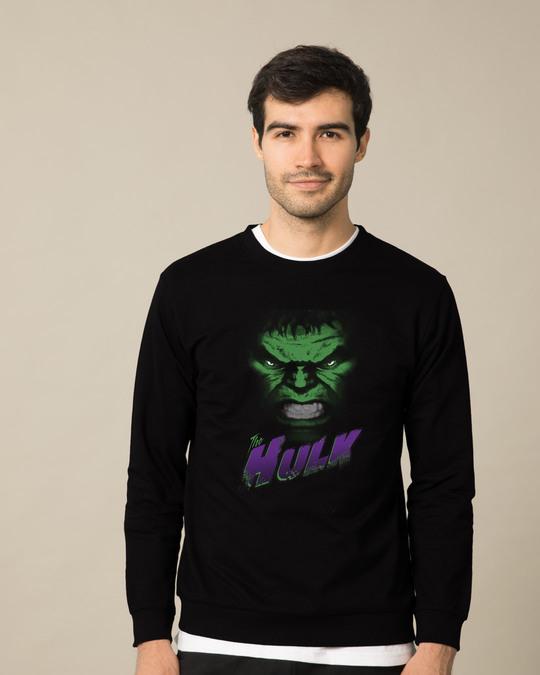 Shop Hulk Face Fleece Sweaters (AVL)-Front