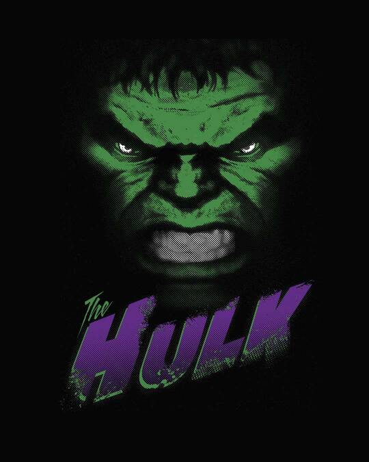 Shop Hulk Face Full Sleeve T-Shirt (AVL)