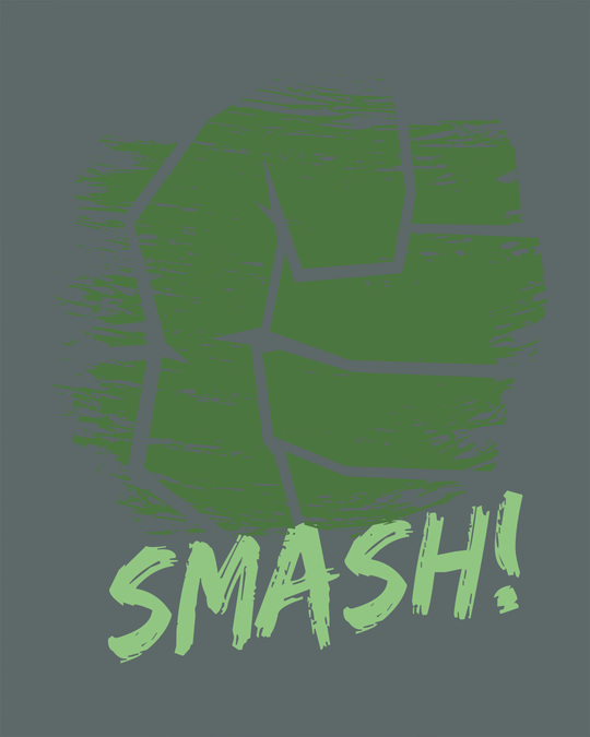 Shop Hulk Fist Full Sleeve T-Shirt (AVEGL)
