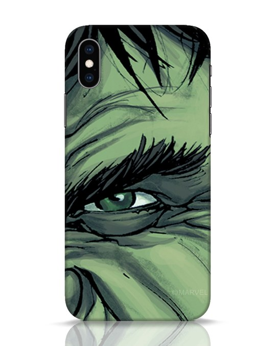 Shop Hulk iPhone XS Mobile Cover (AVL)-Front