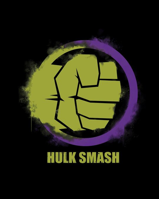 Shop Hulk Is Smashing Full Sleeve T-Shirt (AVL)
