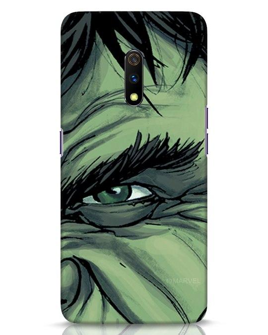 Shop Hulk Realme X Mobile Cover (AVL)-Front