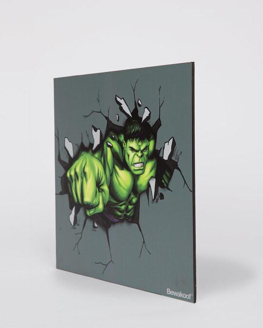 Shop Hulk Smash Designer Wall Frame (Marvel)-Back
