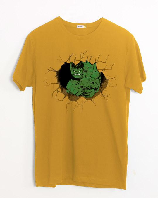 Shop Hulk Smash Wall Half Sleeve T-Shirt (AVL)-Front