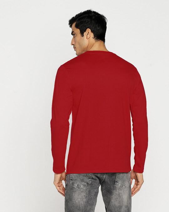Shop Hum Jaise Hai Full Sleeve T-Shirt Bold Red-Design