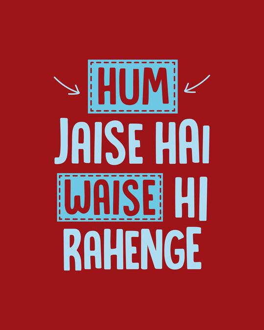 Shop Hum Jaise Hai Full Sleeve T-Shirt Bold Red