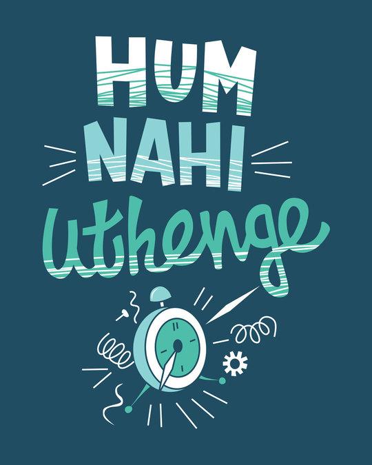 Shop Hum Nahi Uthenge Round Neck 3/4th Sleeve T-Shirt