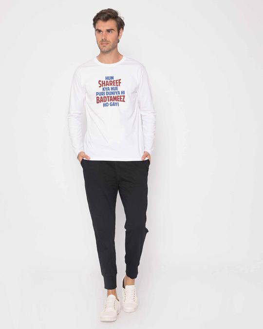 Shop Hum Shareef Full Sleeve T-Shirt-Full