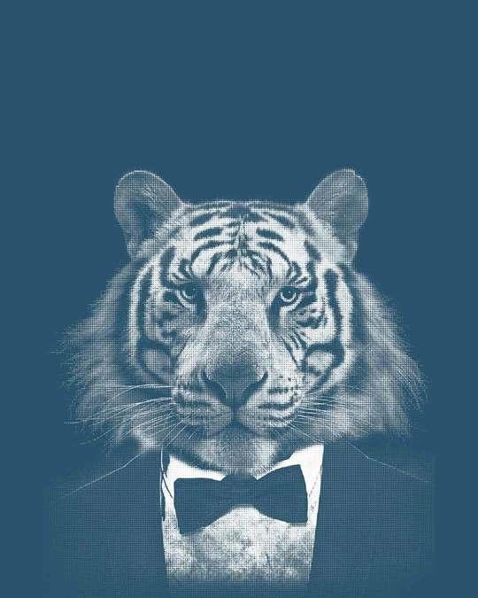 Shop Humanized Tuxedo Tiger Full Sleeve T-Shirt