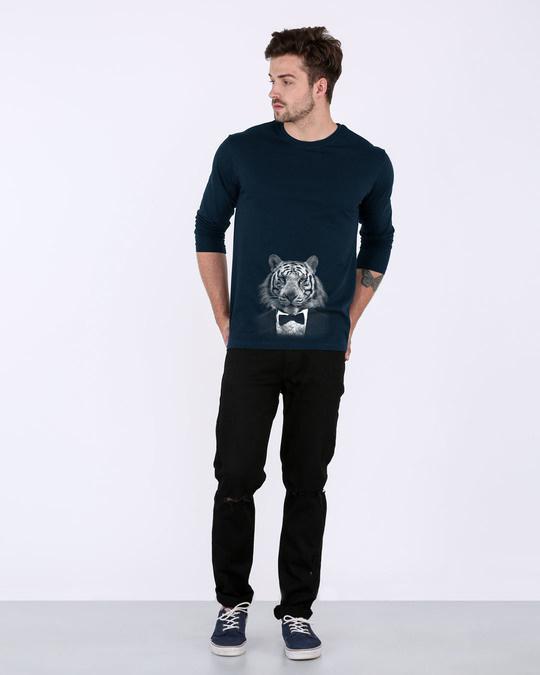 Shop Humanized Tuxedo Tiger Full Sleeve T-Shirt-Full
