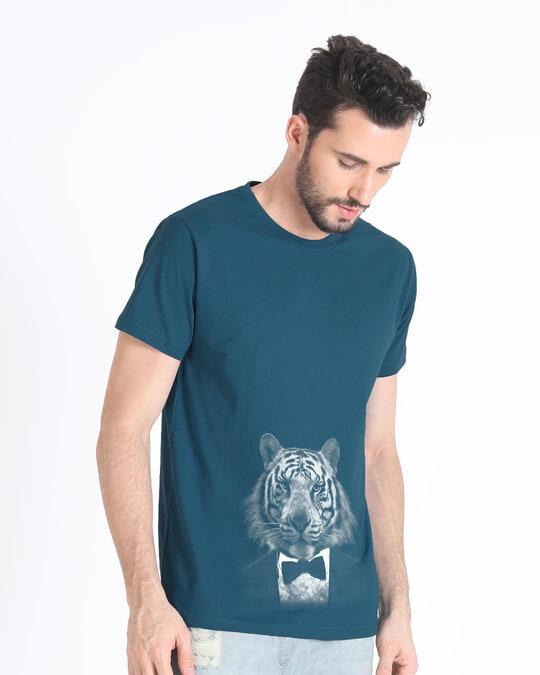 Shop Humanized Tuxedo Tiger Half Sleeve T-Shirt-Design