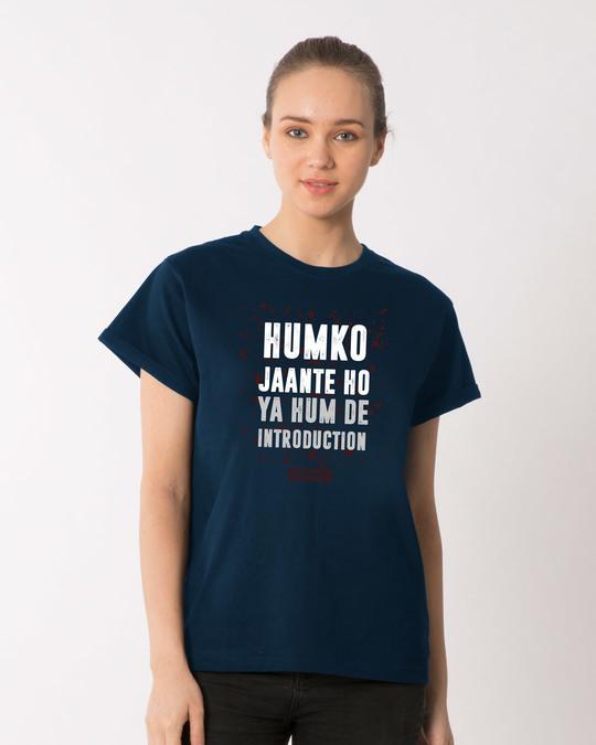 Shop Humko Jaante Ho Boyfriend T-Shirt-Front