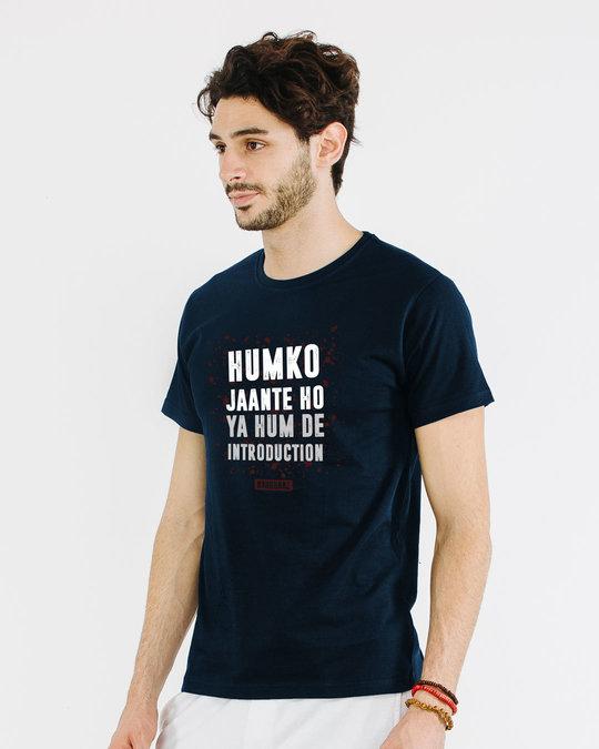 Shop Humko Jaante Ho Half Sleeve T-Shirt-Full