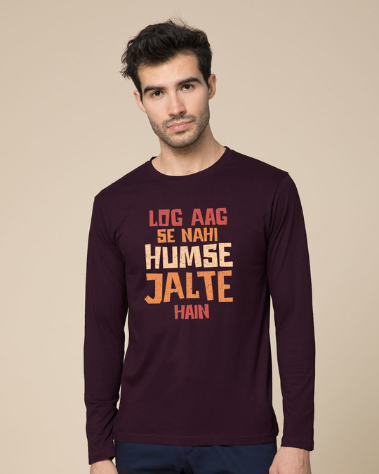 Shop Humse Jalte Hain Full Sleeve T-Shirt-Front