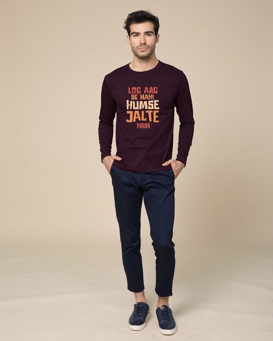 Shop Humse Jalte Hain Full Sleeve T-Shirt-Design