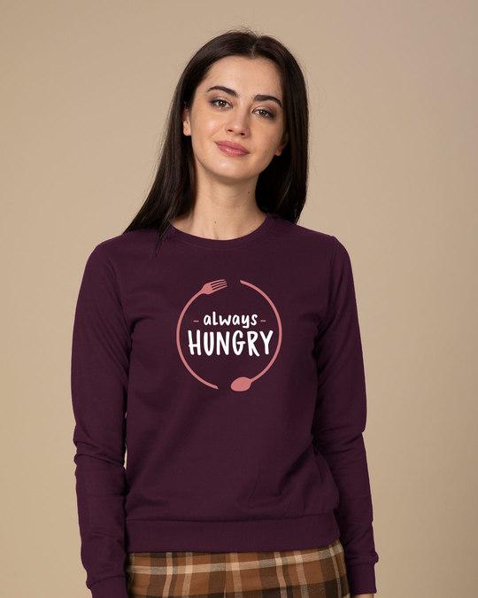 Shop Hungry Always Sweatshirt-Front