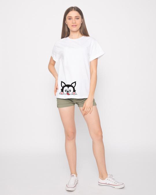 Shop Husky Puppy Boyfriend T-Shirt