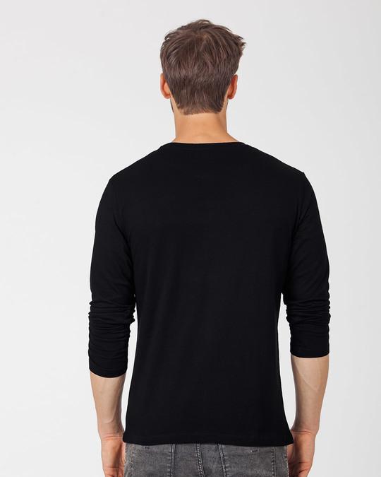 Shop Hustle Gradient Full Sleeve T-Shirt-Back