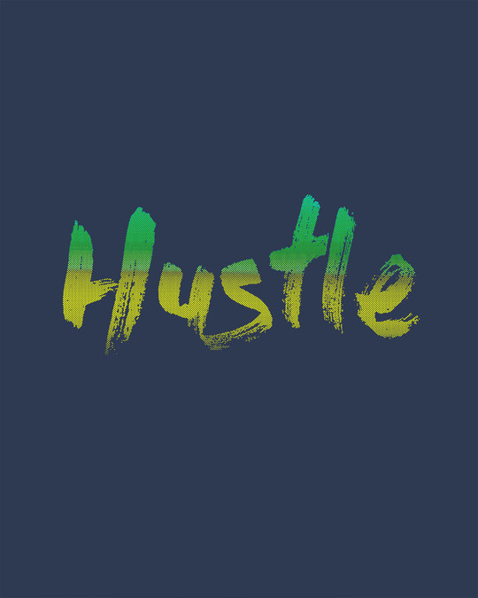 Shop Hustle Gradient Full Sleeve T-Shirt-Full