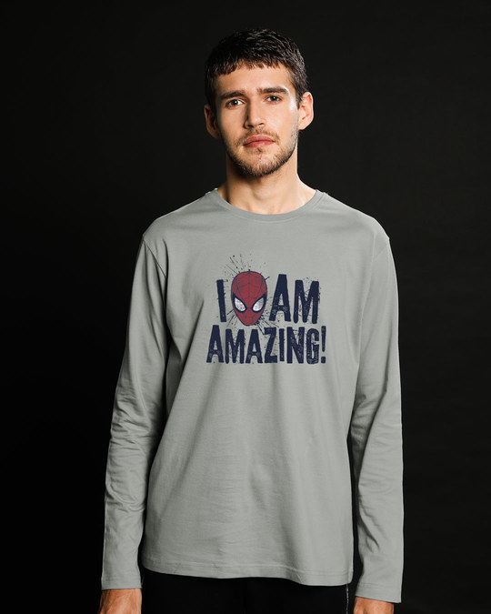 Shop I Am Amazing Full Sleeve T-Shirt (SPL)-Front