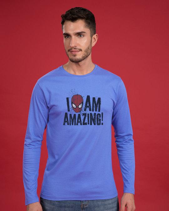 Shop I Am Amazing Full Sleeve T-Shirt (SPL)-Front