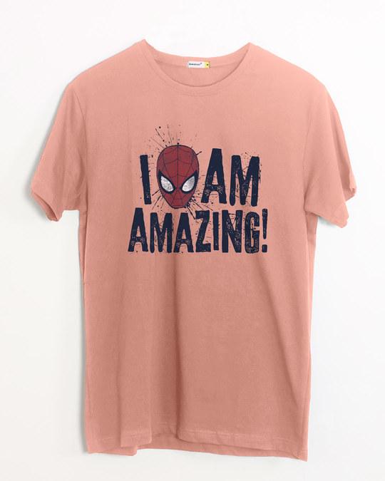Shop I Am Amazing Half Sleeve T-Shirt (SPL)-Front