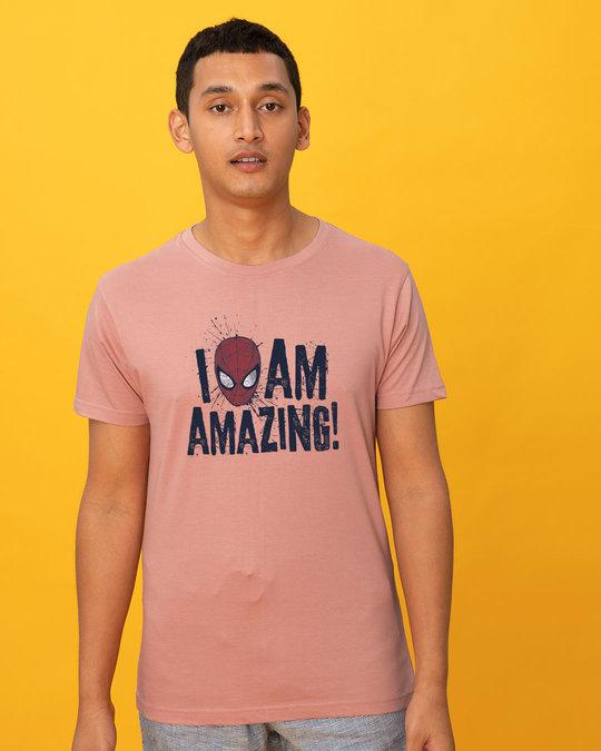 Shop I Am Amazing Half Sleeve T-Shirt (SPL)-Back