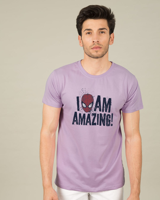 Shop I Am Amazing Half Sleeve T-Shirt (SPL)-Back