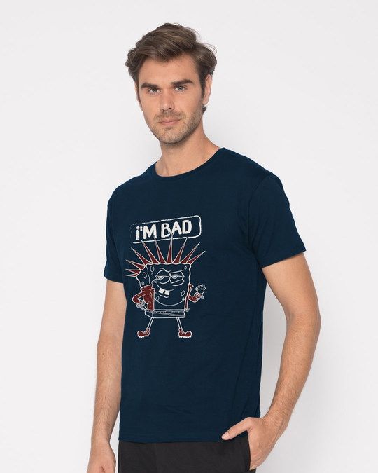 Shop I Am Bad Sponge Half Sleeve T-Shirt (SBL)-Design
