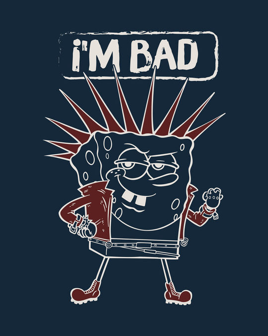 Shop I Am Bad Sponge Half Sleeve T-Shirt (SBL)