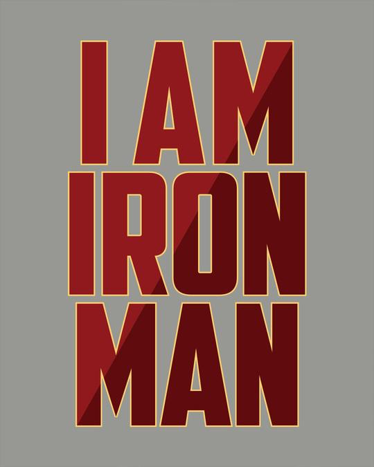 Shop I Am Iron Man Full Sleeve T-Shirt (AVL)