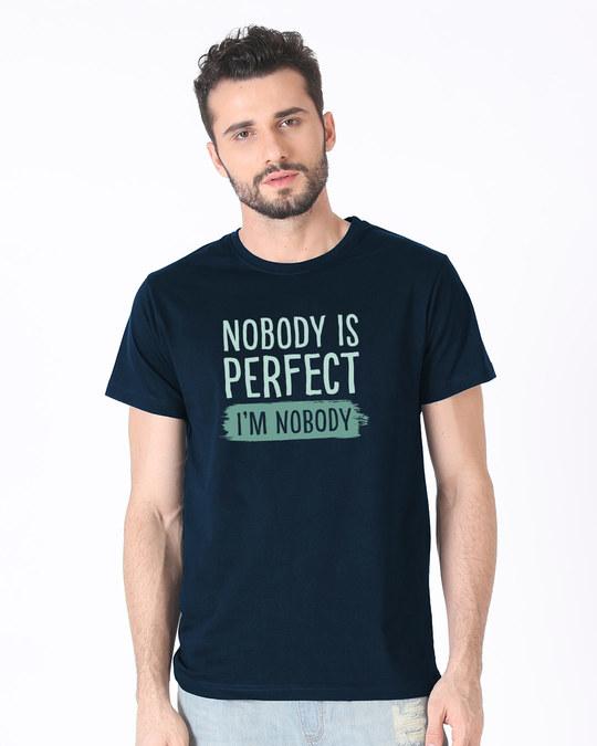 Shop I Am Nobody Half Sleeve T-Shirt-Back