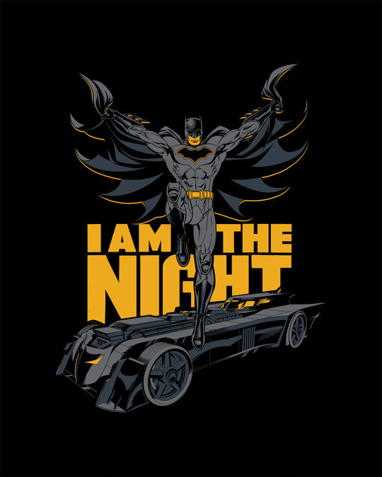 Shop I Am The Night Half Sleeve T-Shirt (BML)