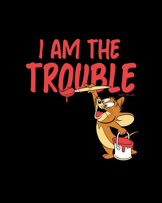 Shop I Am The Trouble Boyfriend T-Shirt (TJL) Black