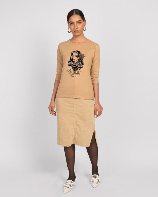 Shop I Am Wonder Woman Round Neck 3/4th Sleeve T-Shirt (DCL)-Design