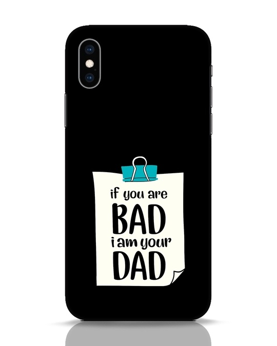 Shop I Am Your Dad iPhone XS Mobile Cover-Front