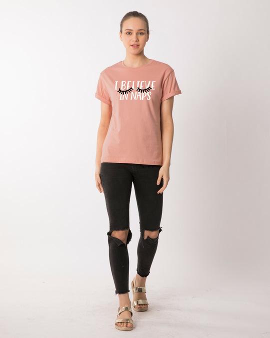 Shop I Believe In Naps Boyfriend T-Shirt