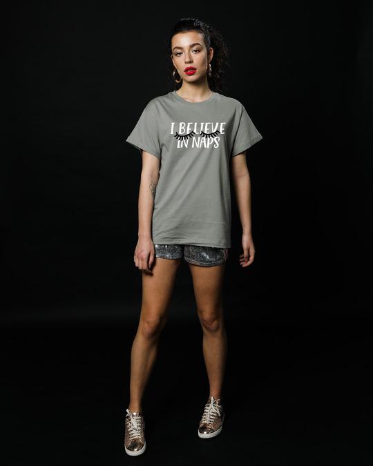 Shop I Believe In Naps Boyfriend T-Shirt-Full