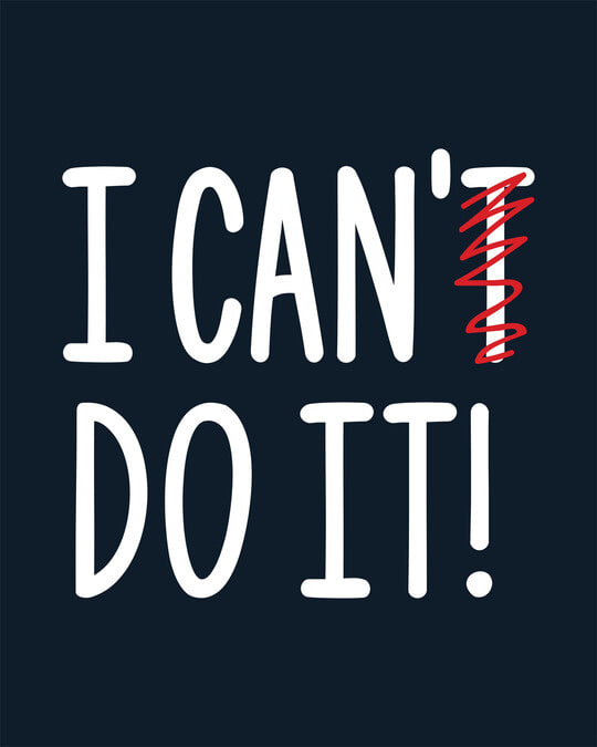 Shop I Can Do It Half Sleeve T-Shirt