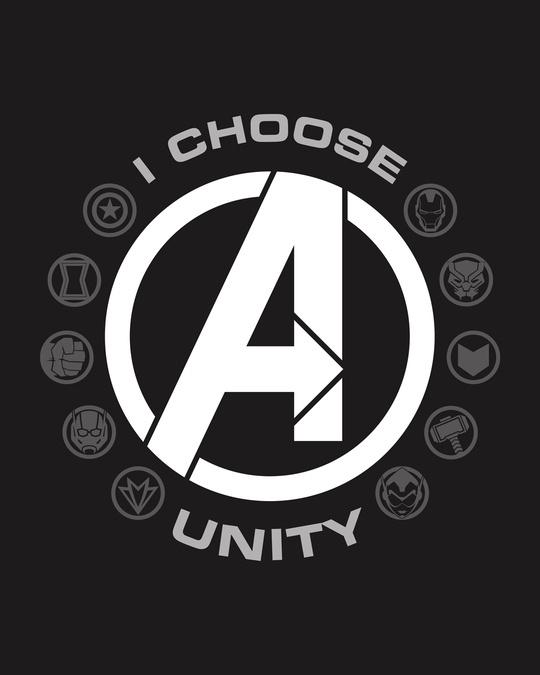 Shop I Choose Unity Half Sleeve T-Shirt (AVL) Black-Full