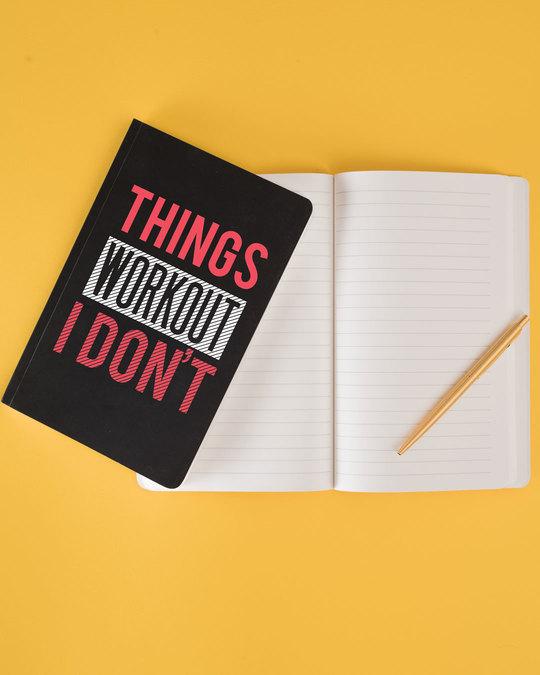 Shop I Don't Workout Notebook-Back
