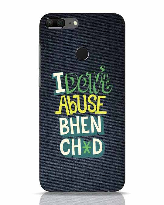 Shop I Dont Abuse Huawei Honor 9 Lite Mobile Cover-Front