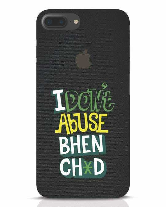 Shop I Dont Abuse iPhone 7 Plus Logo Cut Mobile Cover-Front