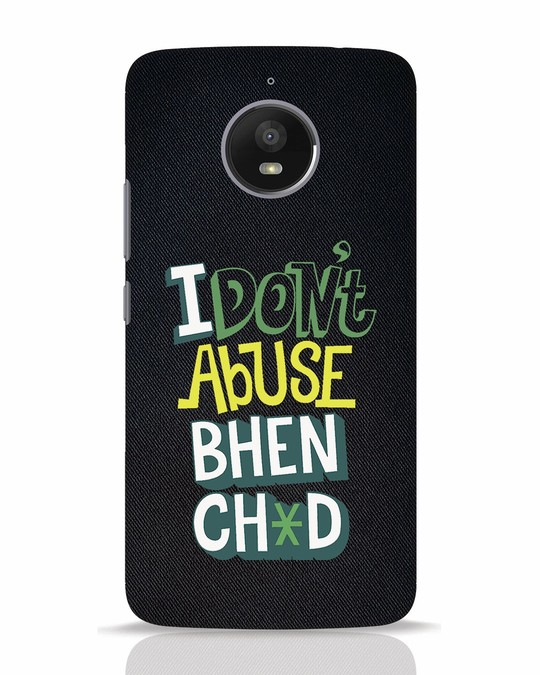 Shop I Dont Abuse Moto E4 Plus Mobile Cover-Front