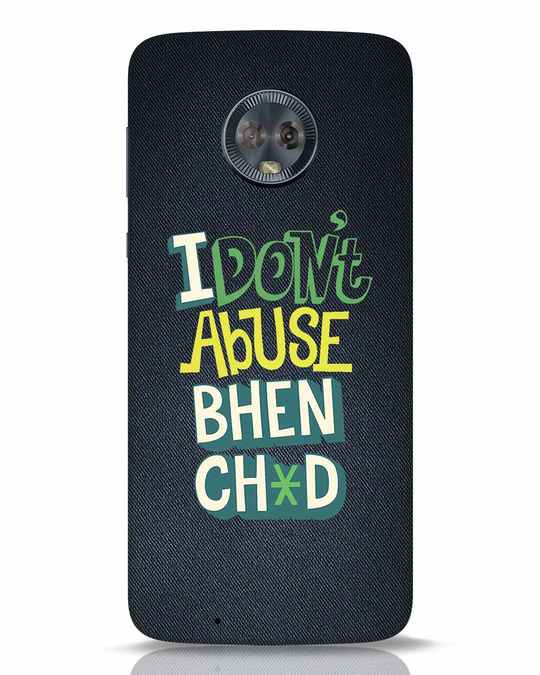 Shop I Dont Abuse Moto G6 Mobile Cover-Front