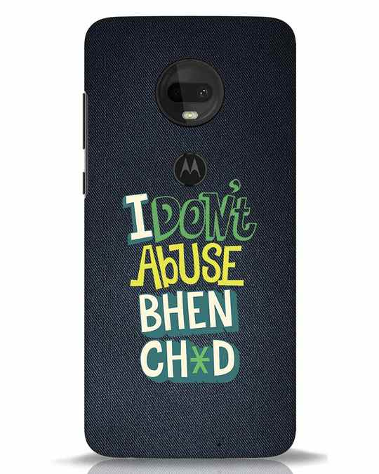 Shop I Dont Abuse Moto G7 Mobile Cover-Front