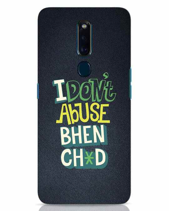 Shop I Dont Abuse Oppo F11 Pro Mobile Cover-Front